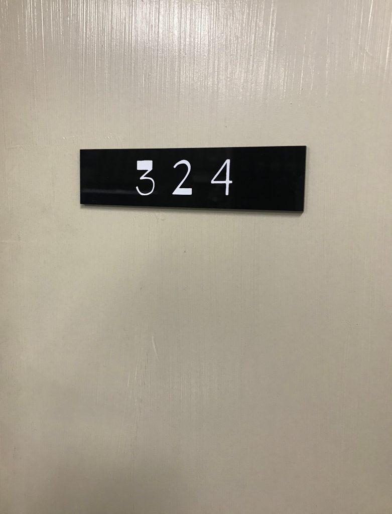 部屋番号プレートの作成
